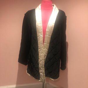 Vintage 70s reversible velvet metallic jacket